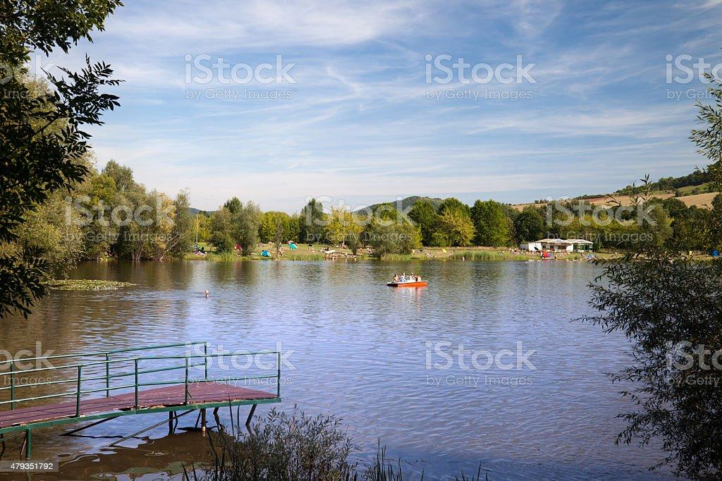 Lake Porstendorf stock photo