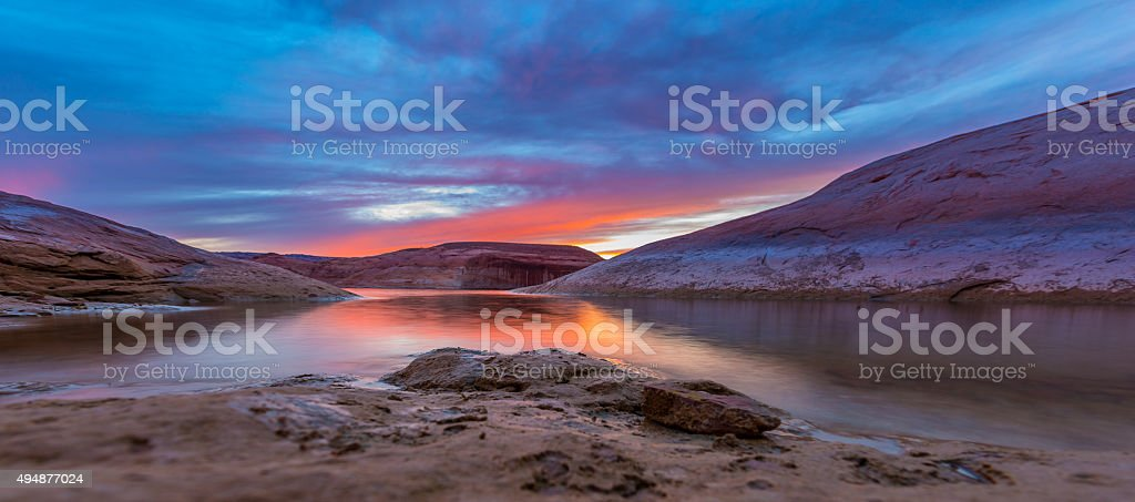 Lake Powell after Sunset stock photo