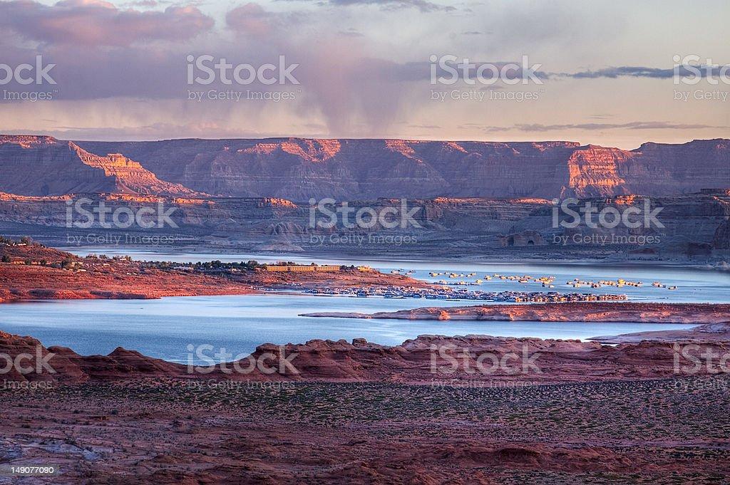 Lake Powell at Dawn stock photo