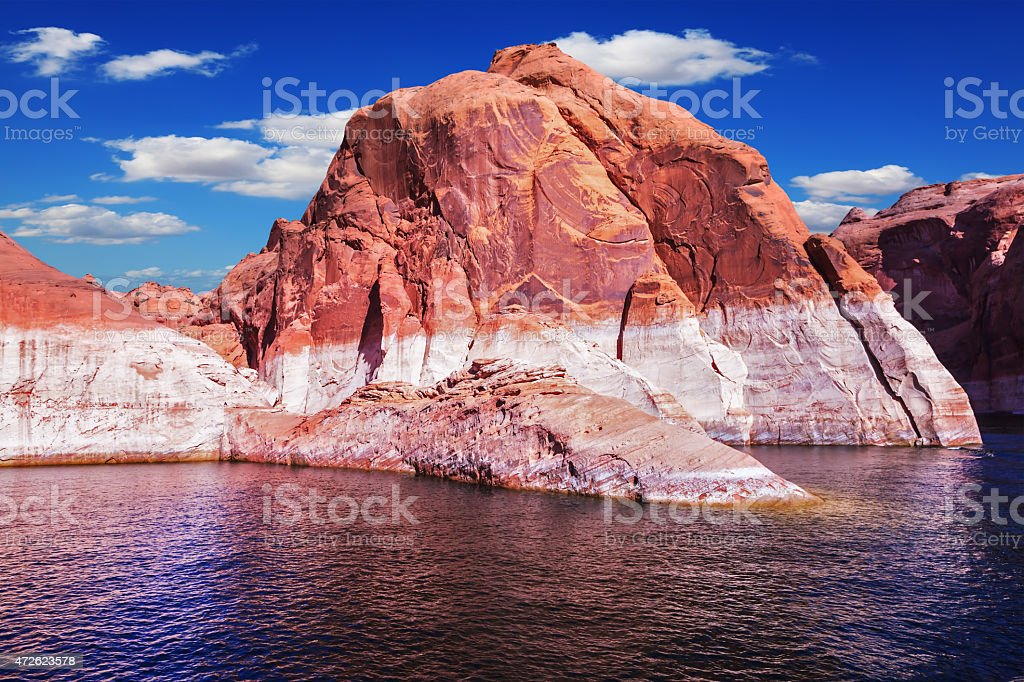 Lake Powell at sunset stock photo