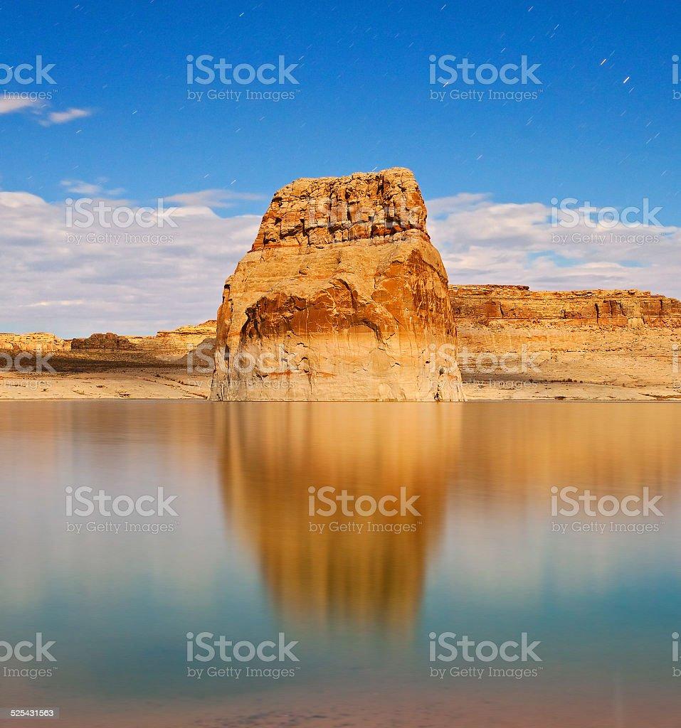 Lake Powell by Glen Canyon in Utah USA stock photo