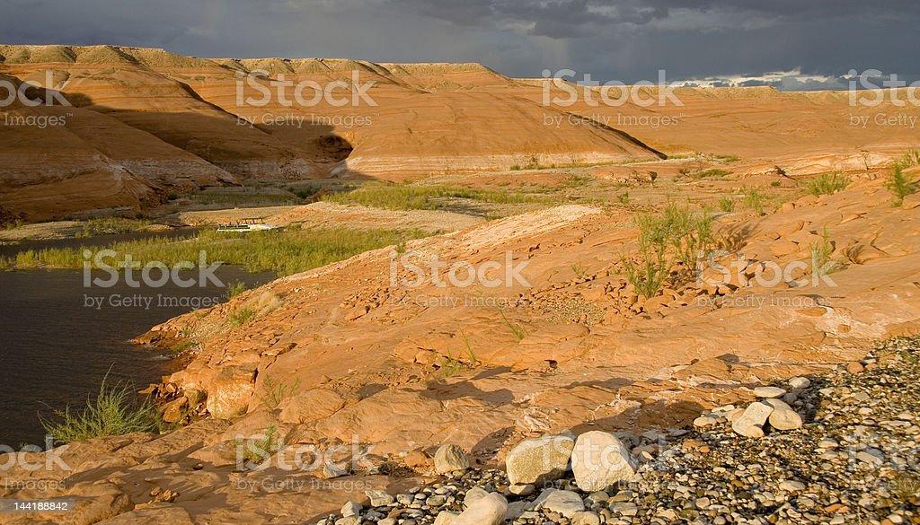 Lake Powell Colored Rocks royalty-free stock photo