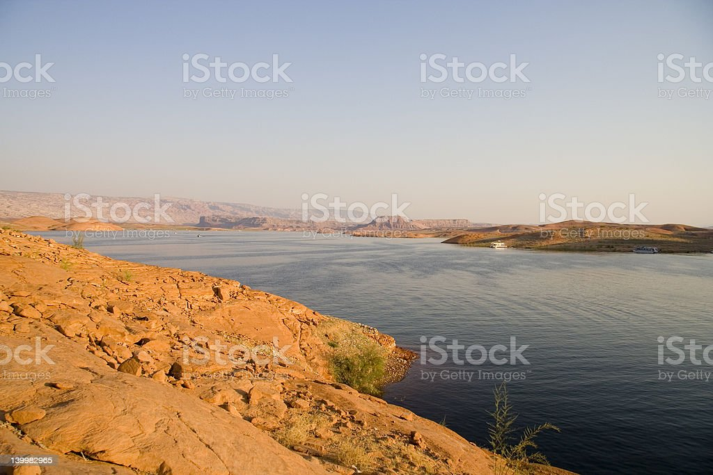 Lake Powell Evening Water royalty-free stock photo