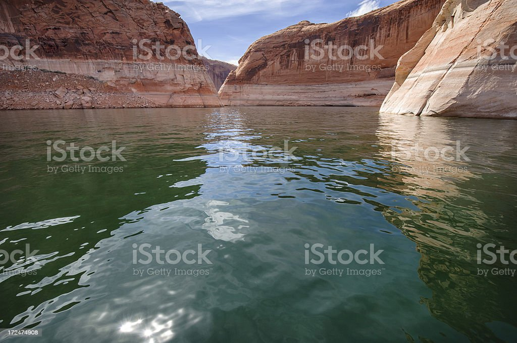 Lake Powell from Boat stock photo