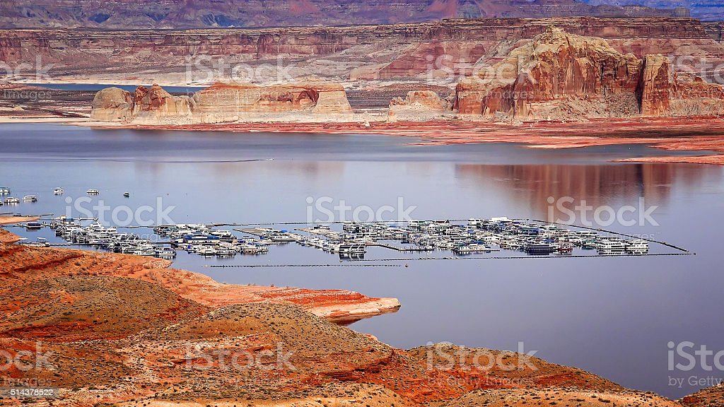 Lake Powell from the Wahweap Overlook stock photo