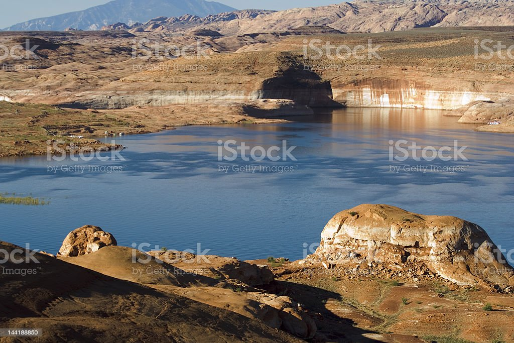 Lake Powell Hills and Cave royalty-free stock photo