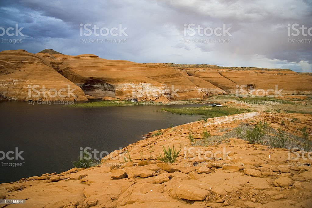 Lake Powell Hills in Storm royalty-free stock photo