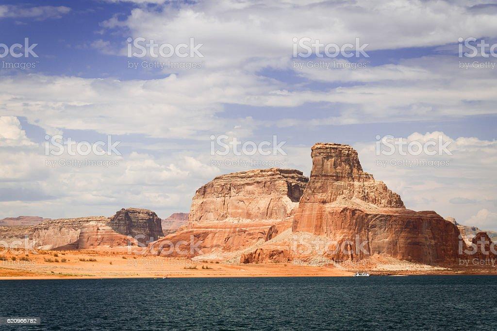 Lake Powell in Glen Canyon National Recreation Area stock photo