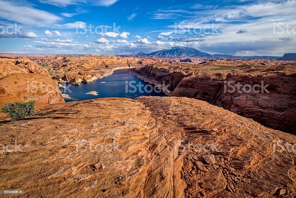 Lake Powell Landscape Scenic View stock photo