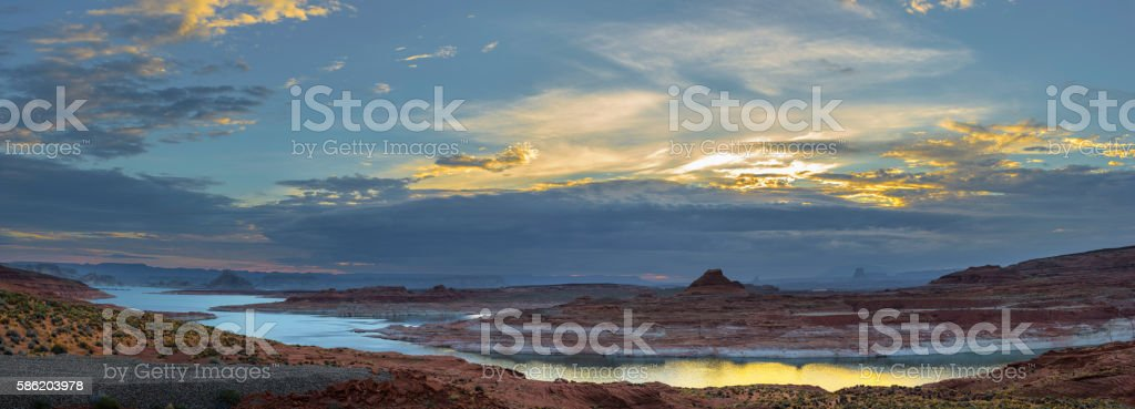 Lake Powell Panorama stock photo