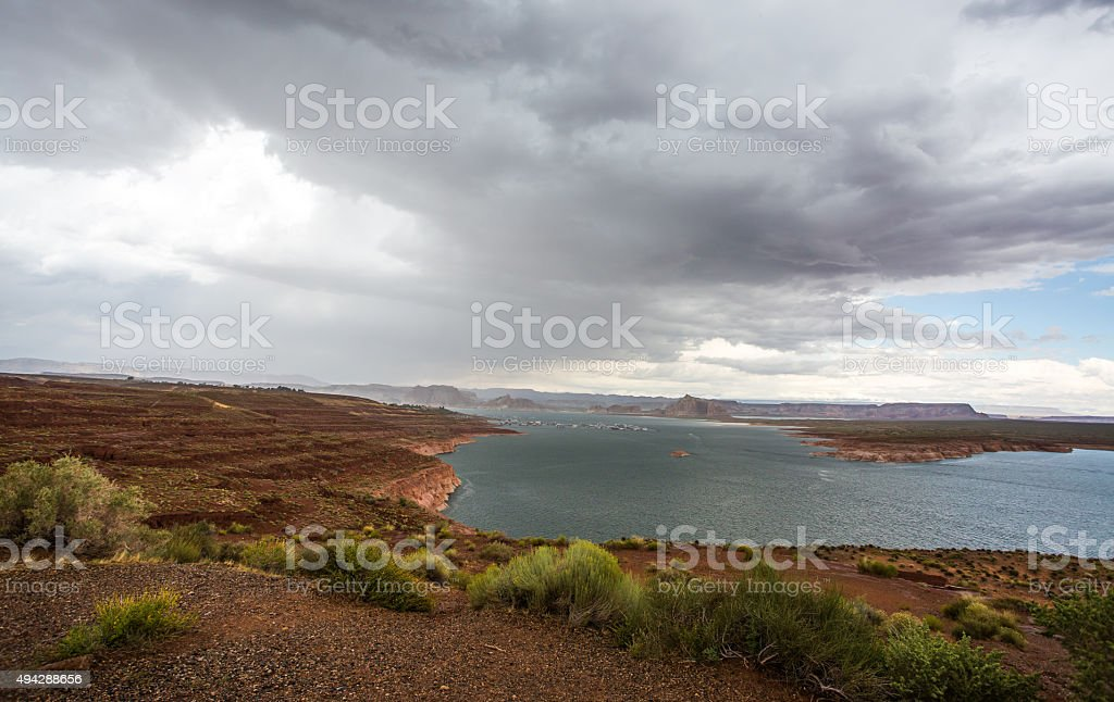 Lake Powell Panoramic view stock photo