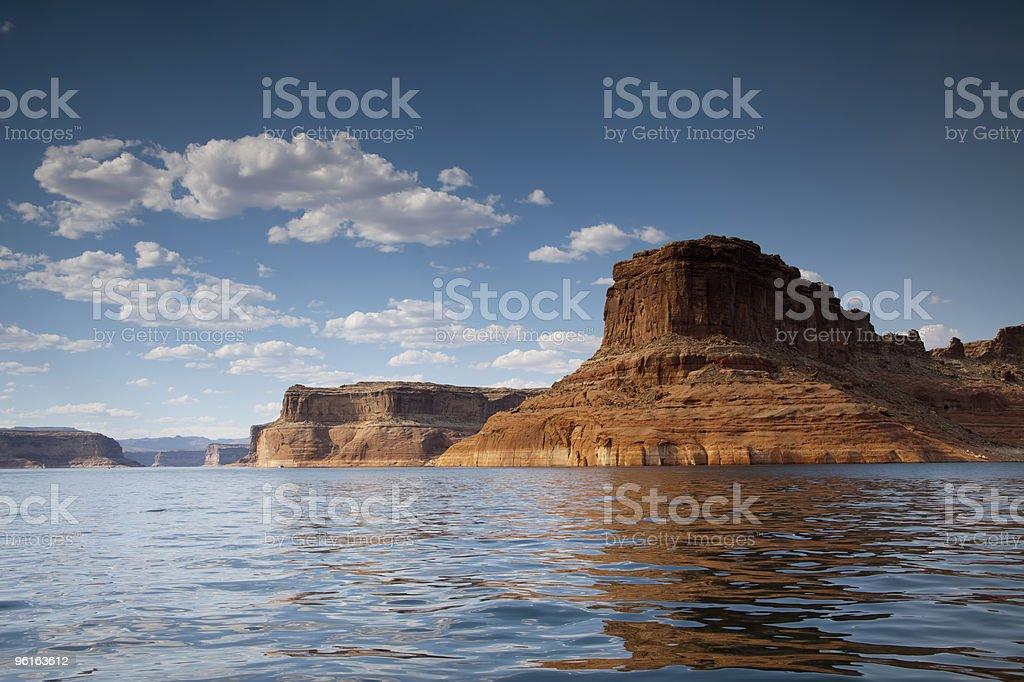 Lake Powell Rock Formation stock photo