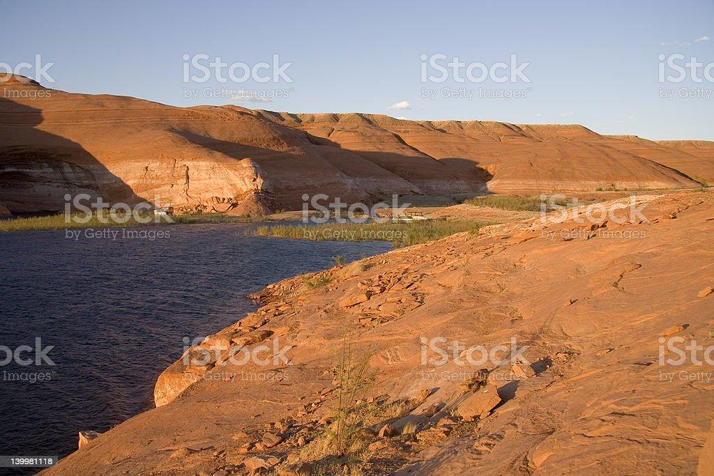 Lake Powell Rocks and Sky royalty-free stock photo