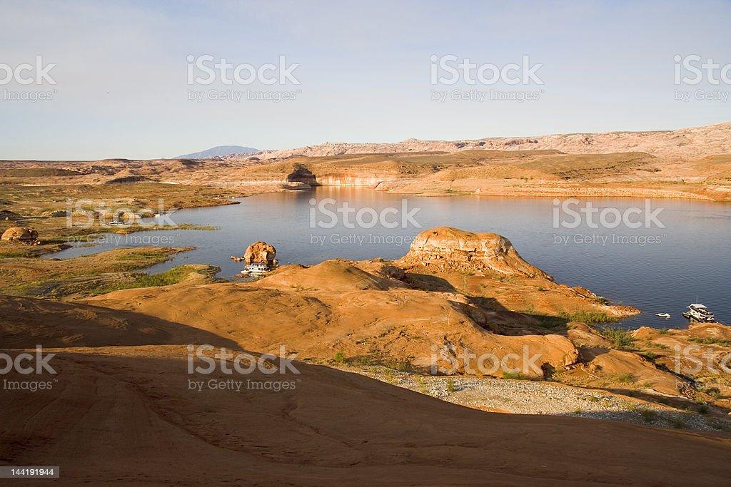 Lake Powell Sunrise Rocks royalty-free stock photo