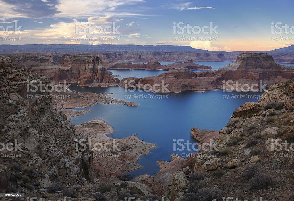 Lake Powell Sunset Panorama (XXXL) royalty-free stock photo