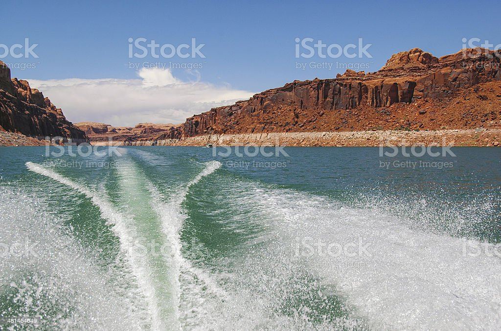 Lake Powell Wake royalty-free stock photo