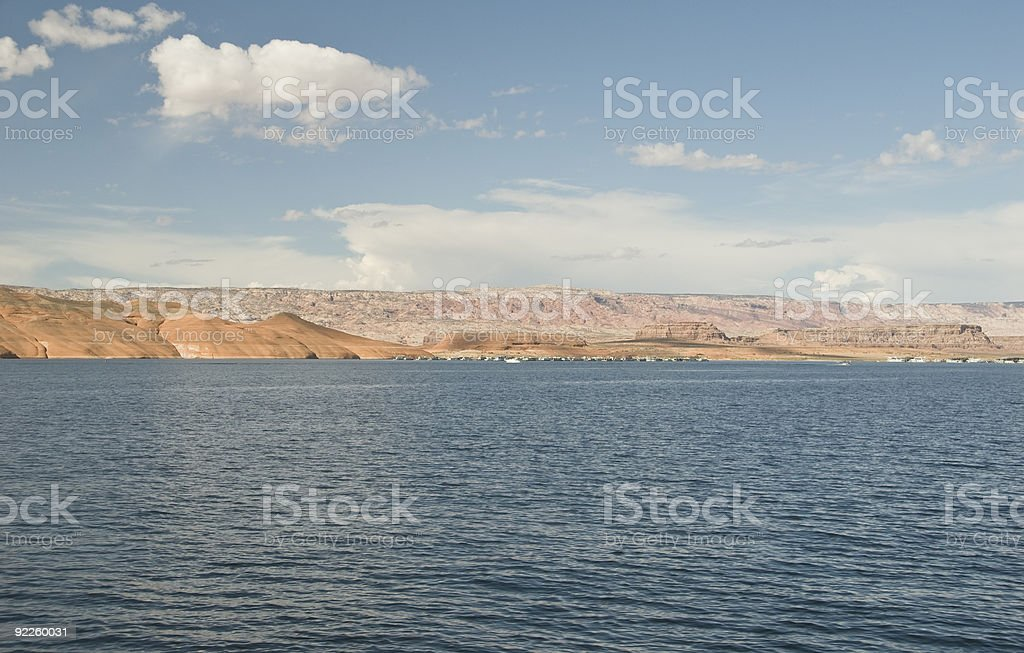 Lake Powell-View from Hall's Crossing stock photo