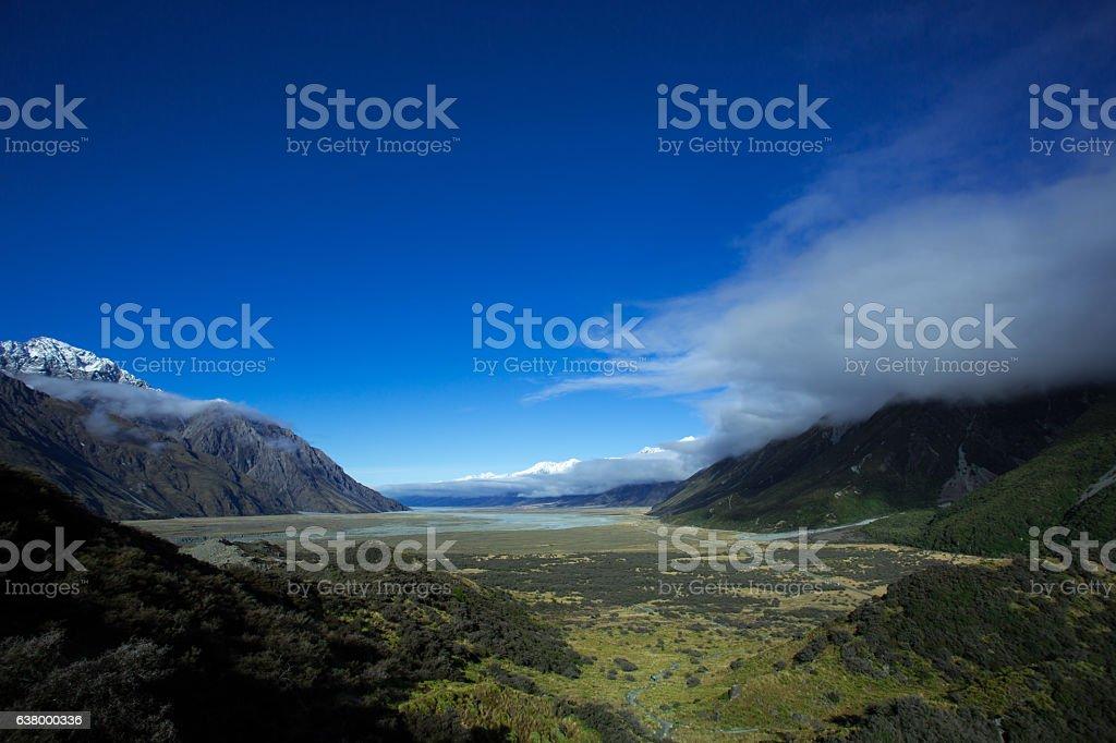 Lake Pukaki Looking From The Tasman Valley stock photo
