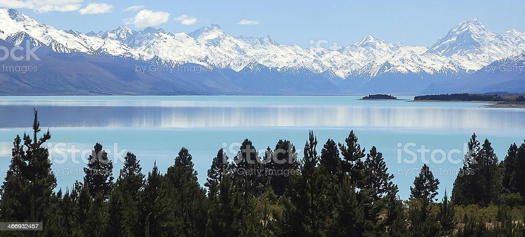 Lake Pukaki, Mt. Cook National Park, New Zealand royalty-free stock photo