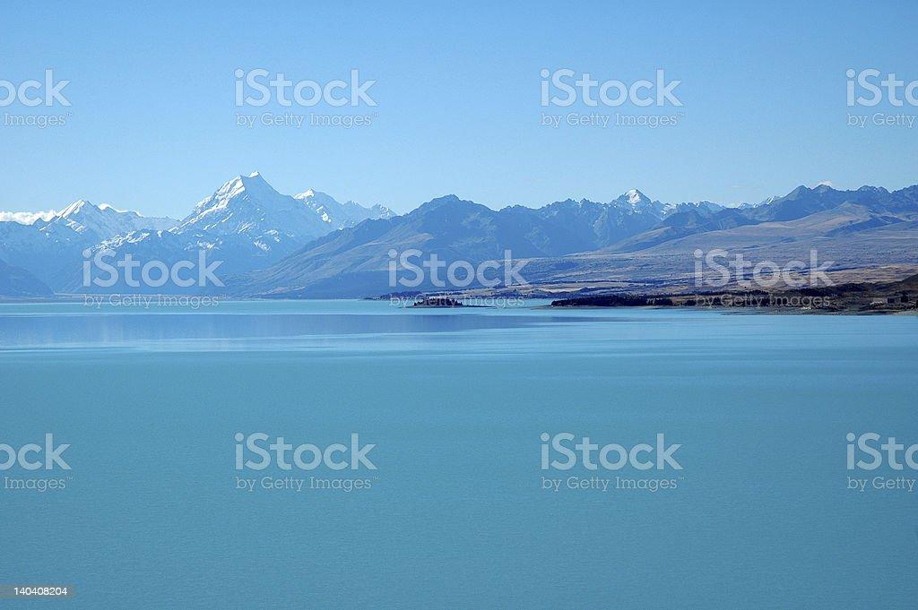 Lake Pukaki, New Zealand royalty-free stock photo
