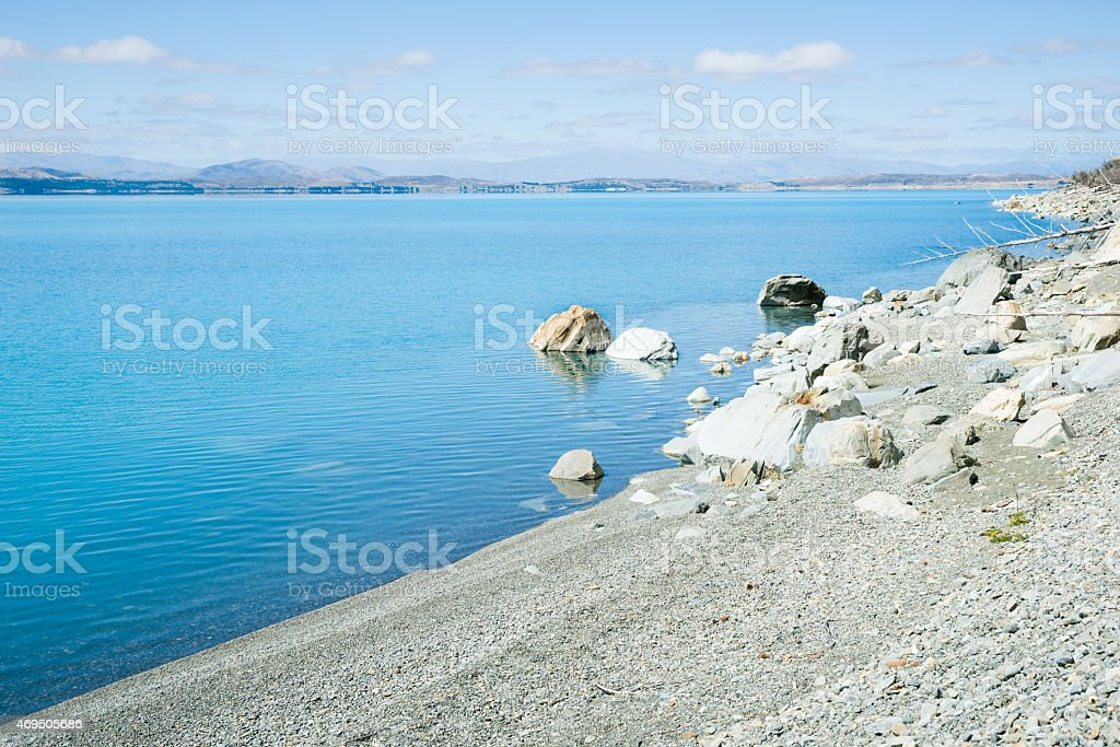Lake Pukaki, South Island NZ stock photo