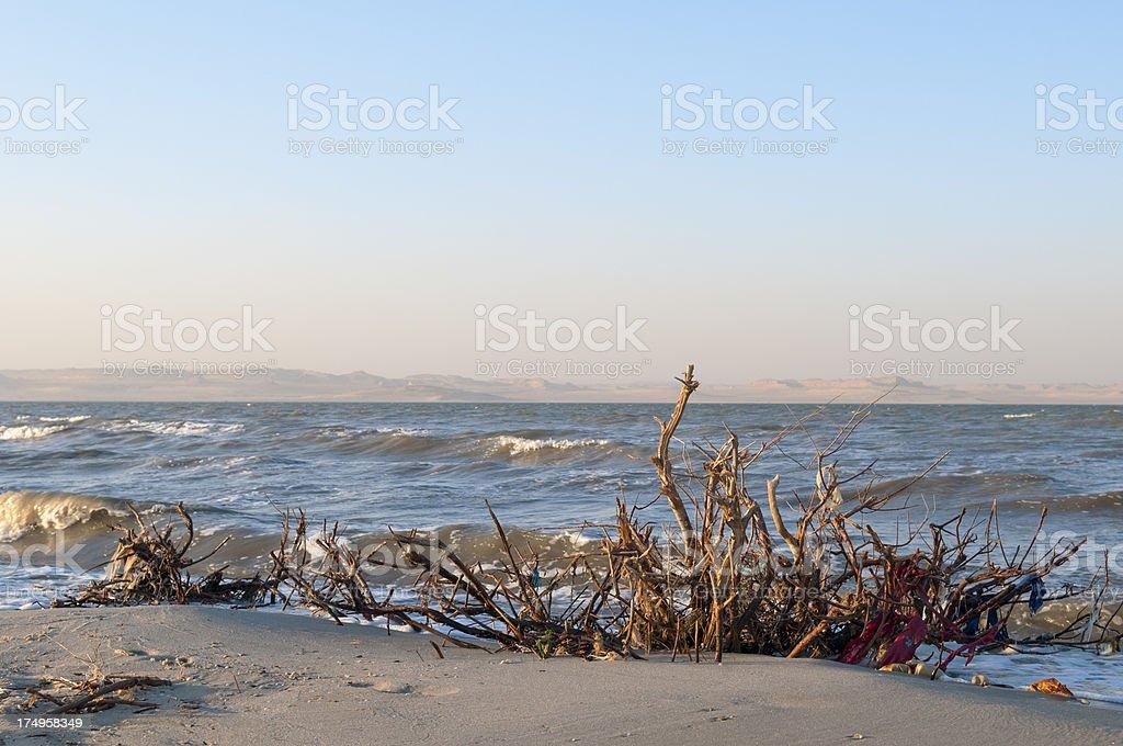 Lake Qarun in Fayoum, Egypt stock photo