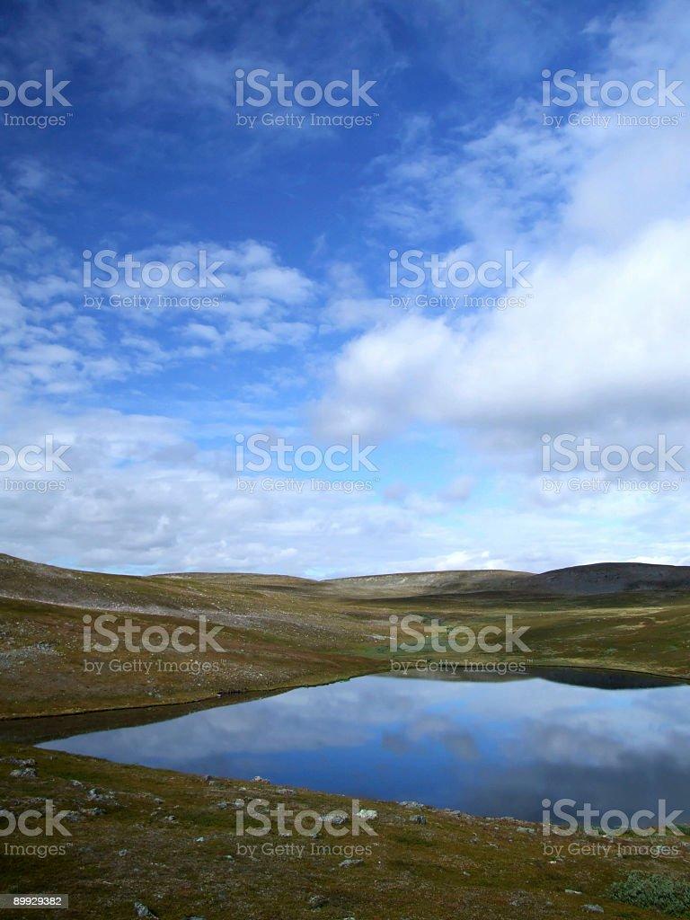 Lake reflection cloudscape royalty-free stock photo
