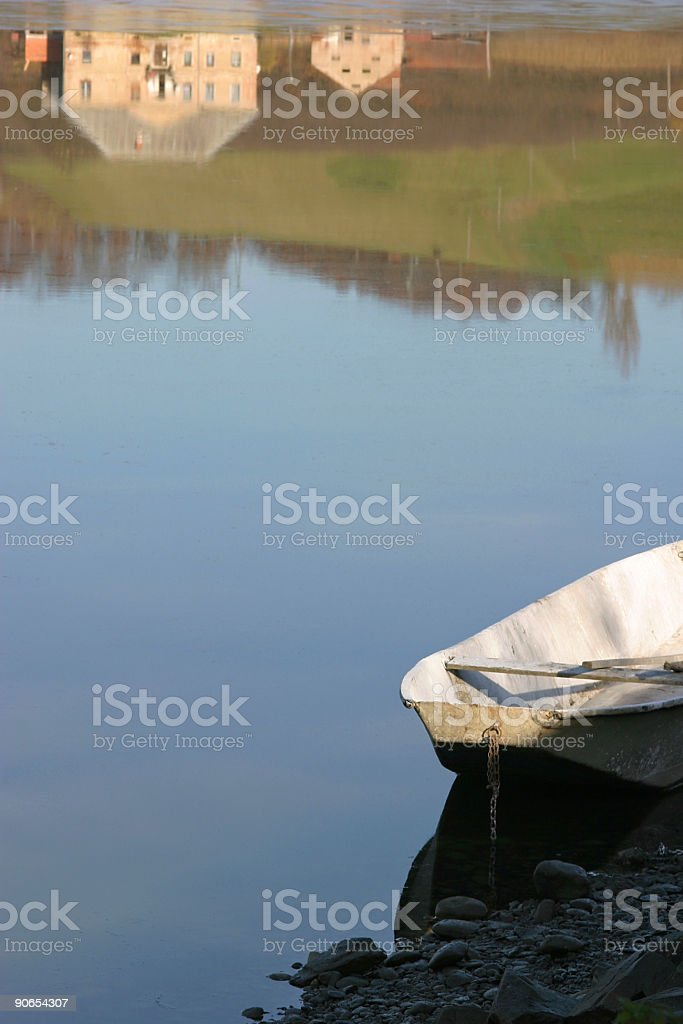 Lake reflection royalty-free stock photo