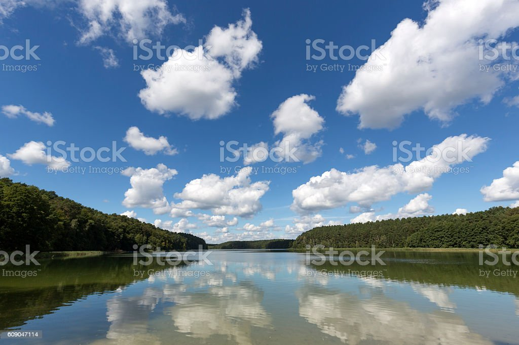 Lake Roofensee in the eastern part of Germany, Europe stock photo