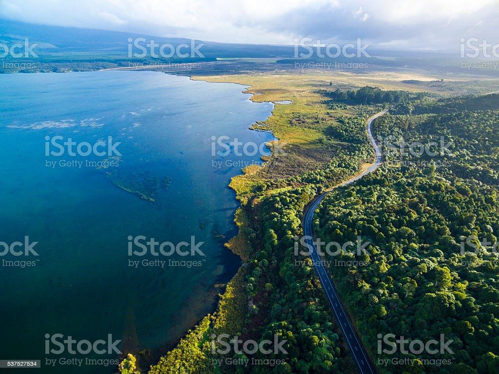 Lake Rotoaira stock photo