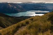 Lake Rotoiti in New Zealand at sunset