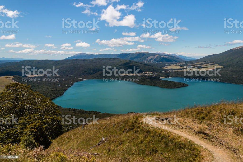 lake Rotoiti in New Zealand stock photo