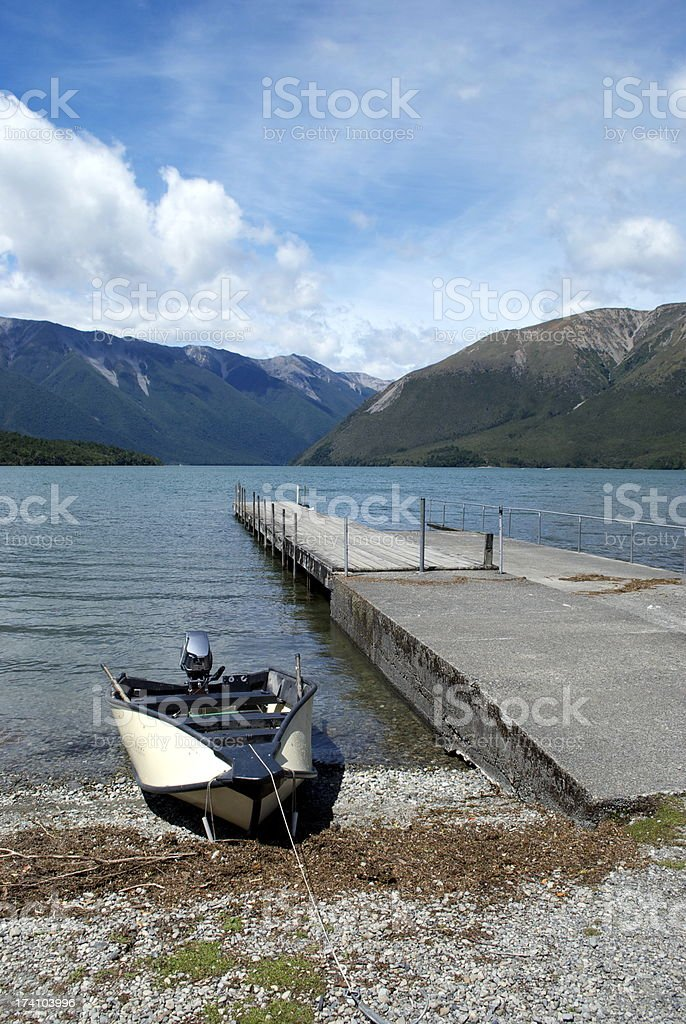 Lake Rotoiti, Nelson Lakes National Park, NZ royalty-free stock photo