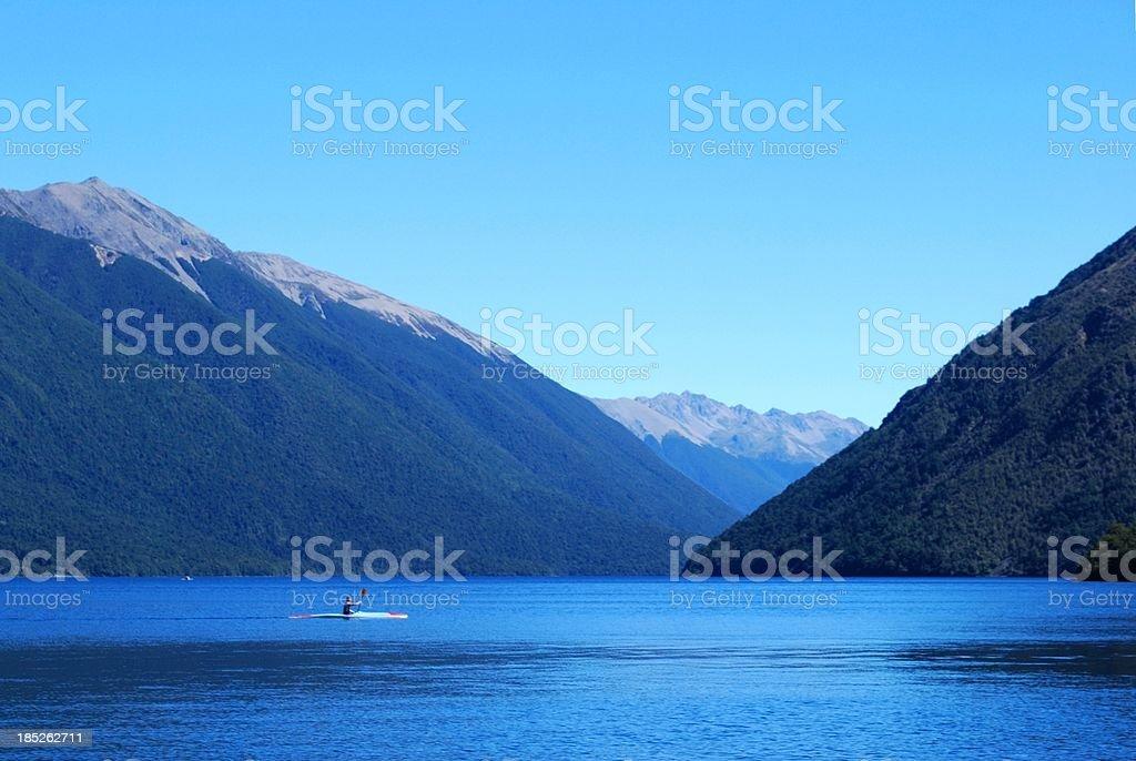Lake Rotoiti, Nelson Lakes National Park, NZ stock photo