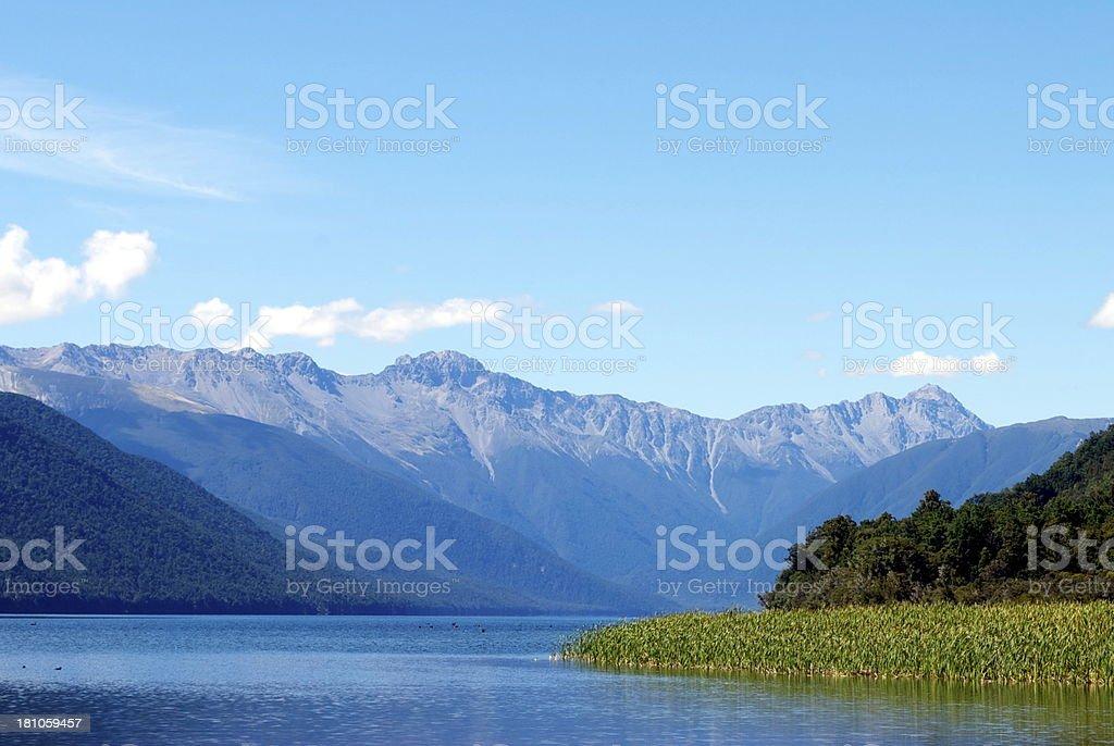 Lake Rotoroa, Nelson Lakes National Park, New Zealand royalty-free stock photo