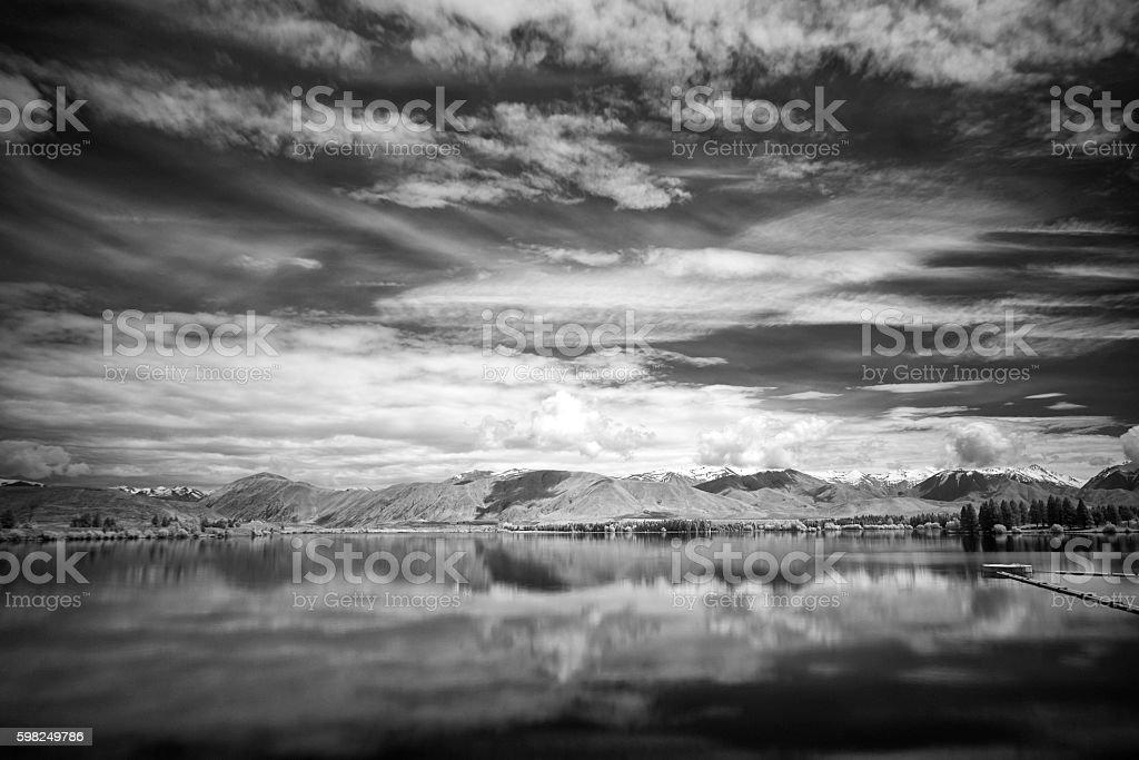 Lake Ruataniwha In New Zealand's Mackenzie Country stock photo