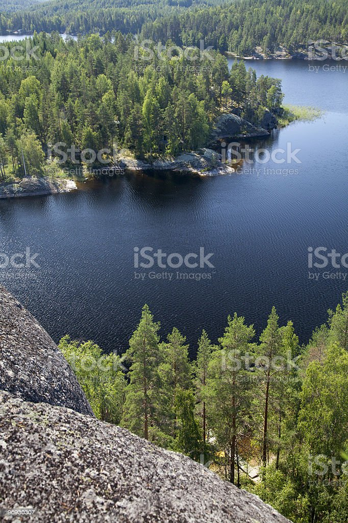 Lake Saimaa in Finland royalty-free stock photo