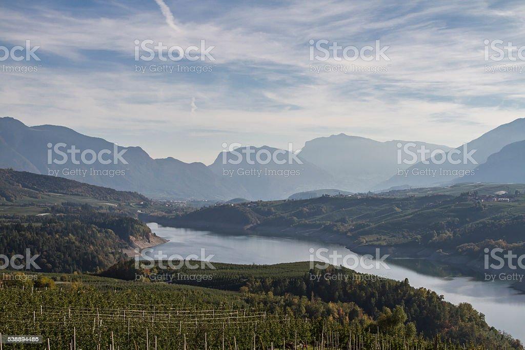 lake Santa-Giustina stock photo
