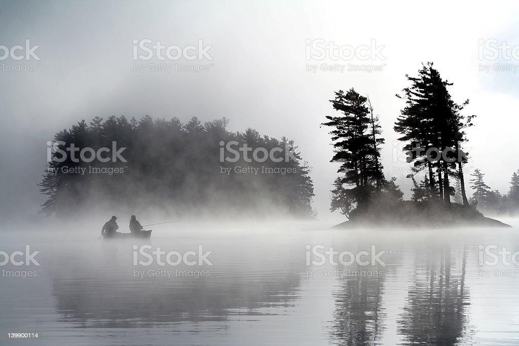 Lake Saranac Morning stock photo