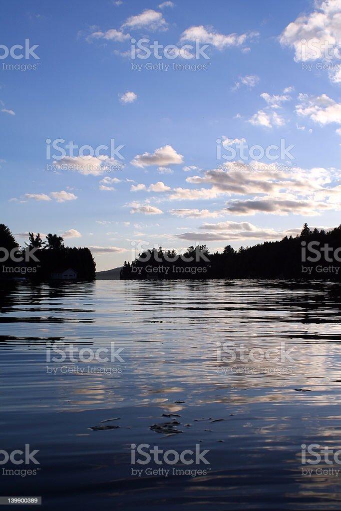 Lake Saranac stock photo