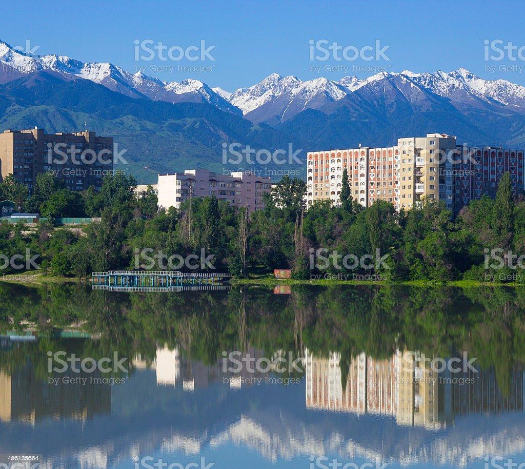 Lake Sayran stock photo