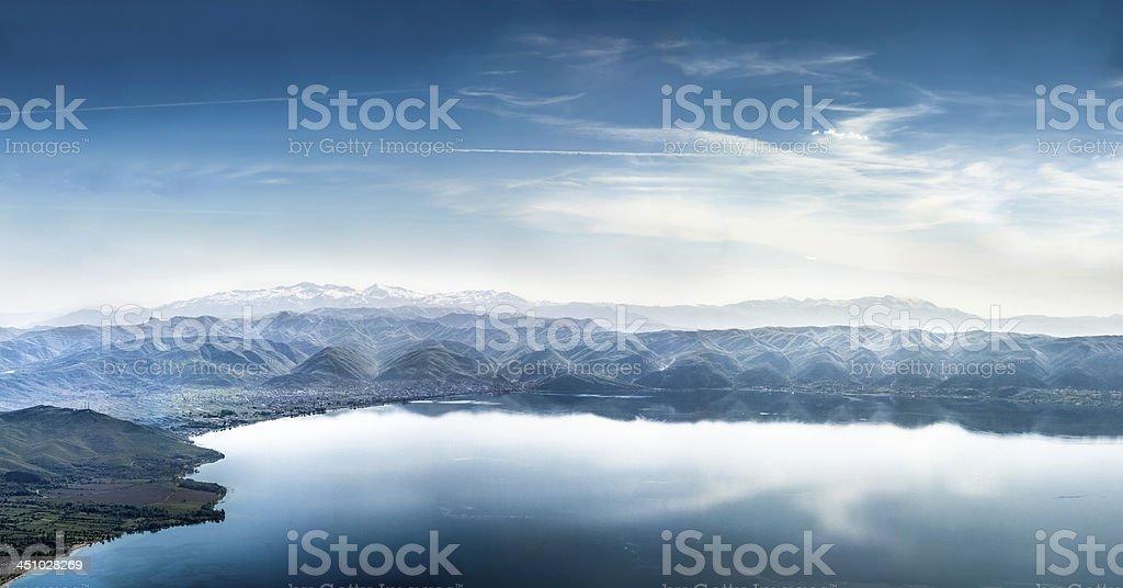 Lake scenery royalty-free stock photo