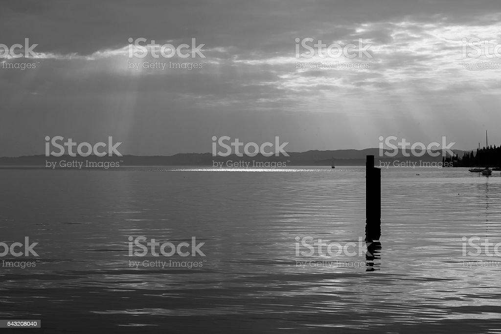lake scenery stock photo