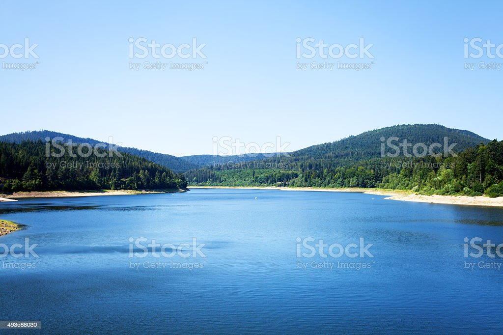 Lake Schwarzenbach stock photo