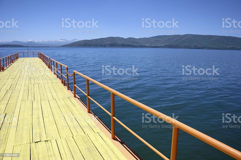Lake Sevan, Armenia. sunny silent Place royalty-free stock photo