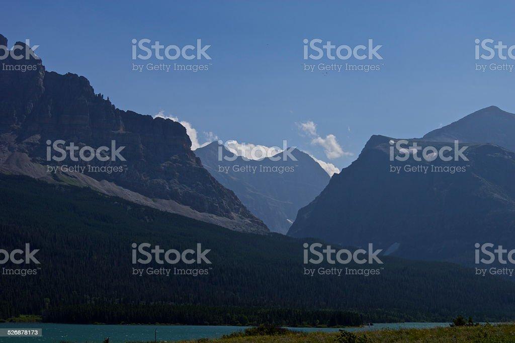 Lake Sherburne Majestic stock photo