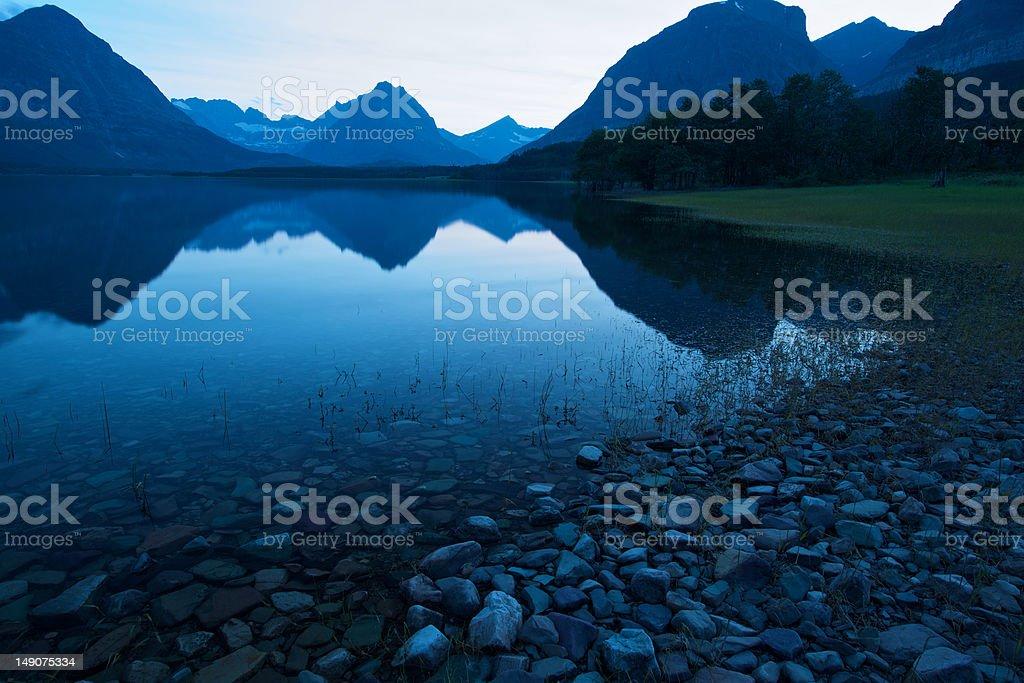 Lake Sherburne royalty-free stock photo