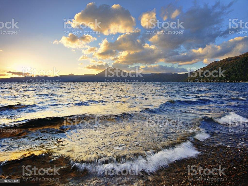 Lake Shikotsu royalty-free stock photo