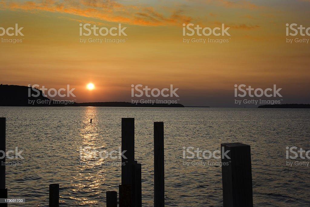 Lake Shore Sunset stock photo