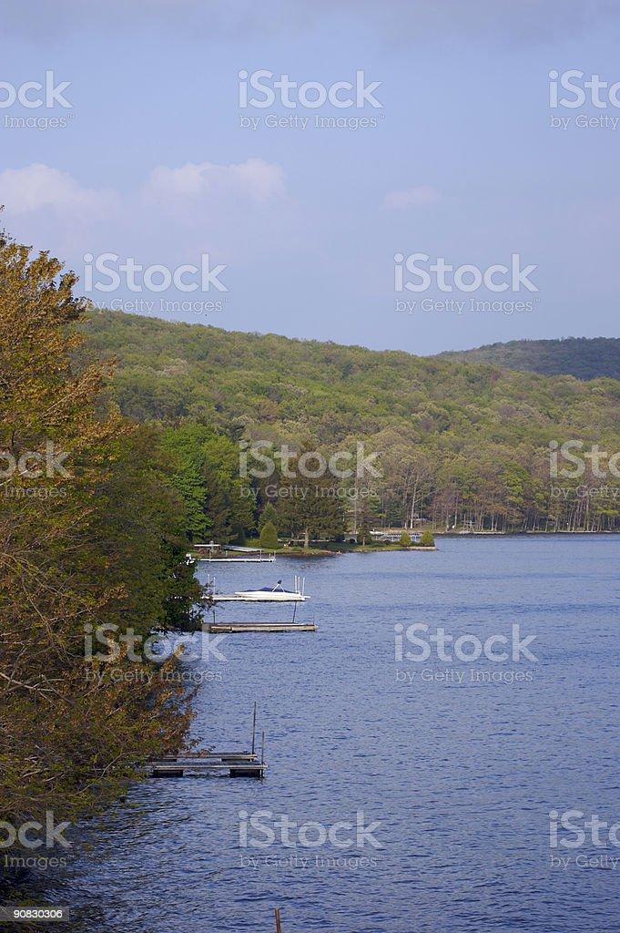 Lake Shoreline stock photo